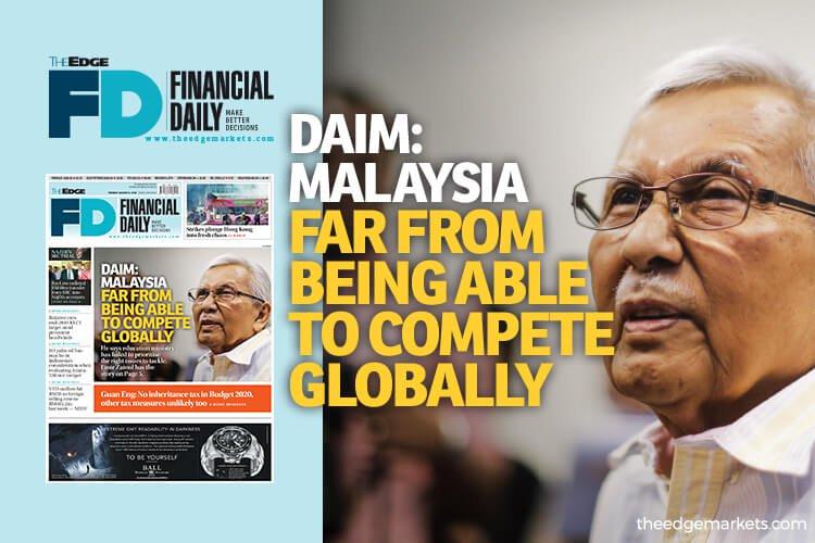 达因:大马远未能在全球范围内竞争